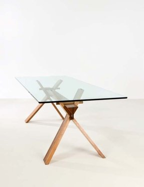 wooden glass dining table