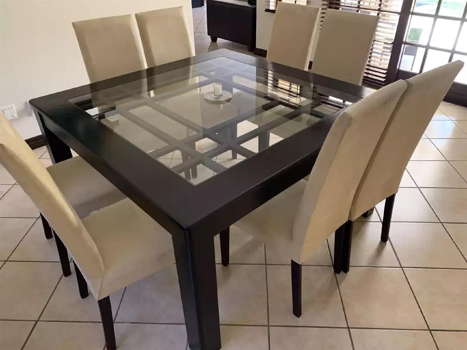 square eight seater dining table