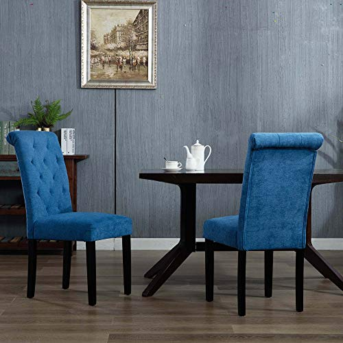 blue parson dining chairs