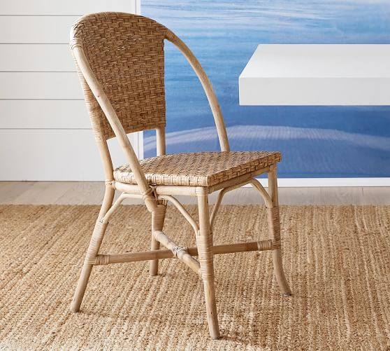 pottery barn wicker dining chairs