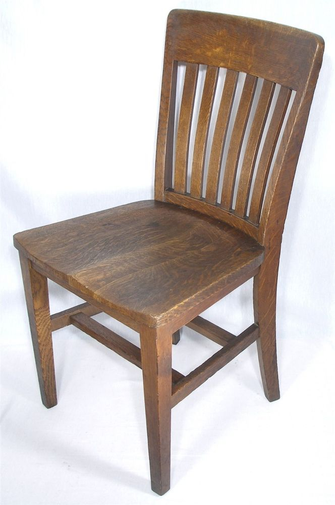 tiger oak dining chairs