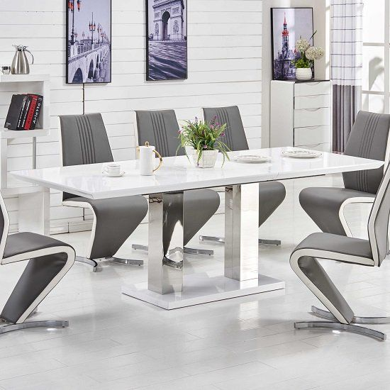 white chairs for dining table