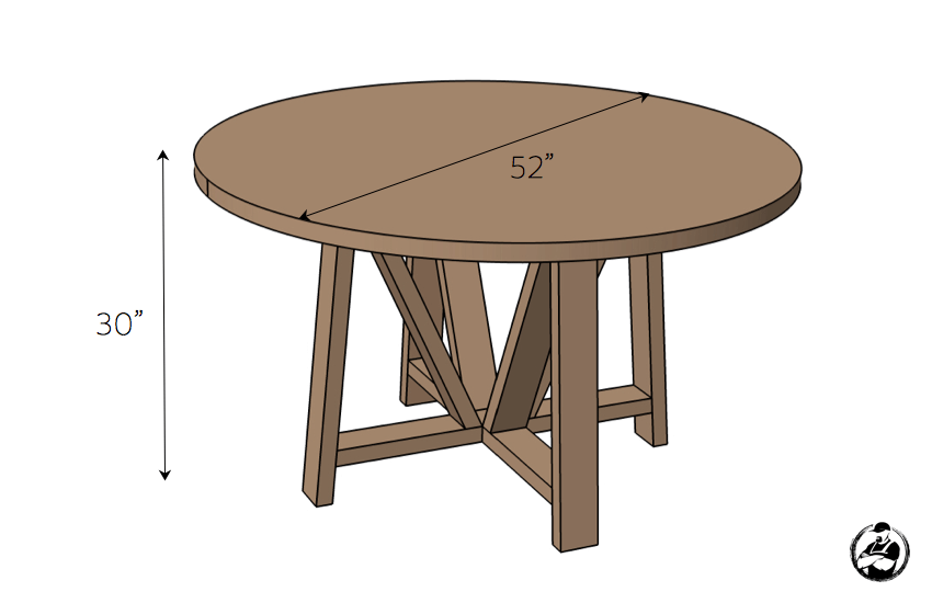 round dining table standard size