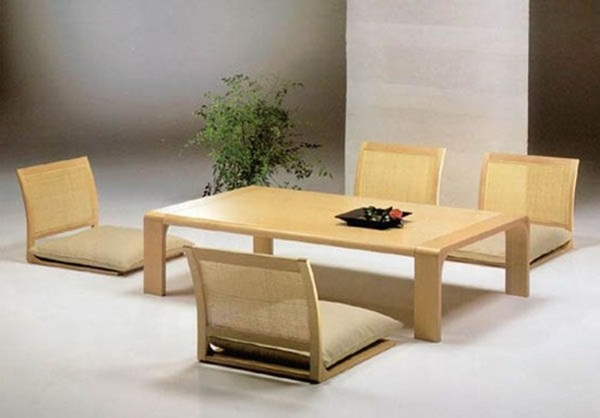 japanese style floor dining table
