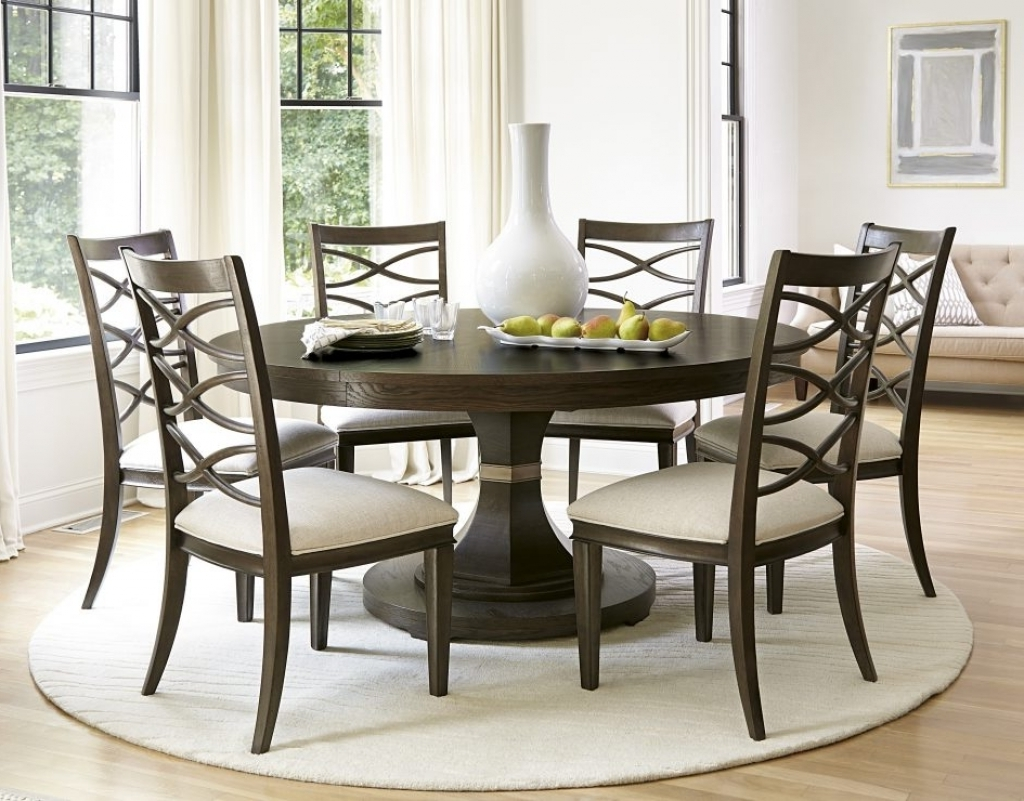 circular dining table with chairs