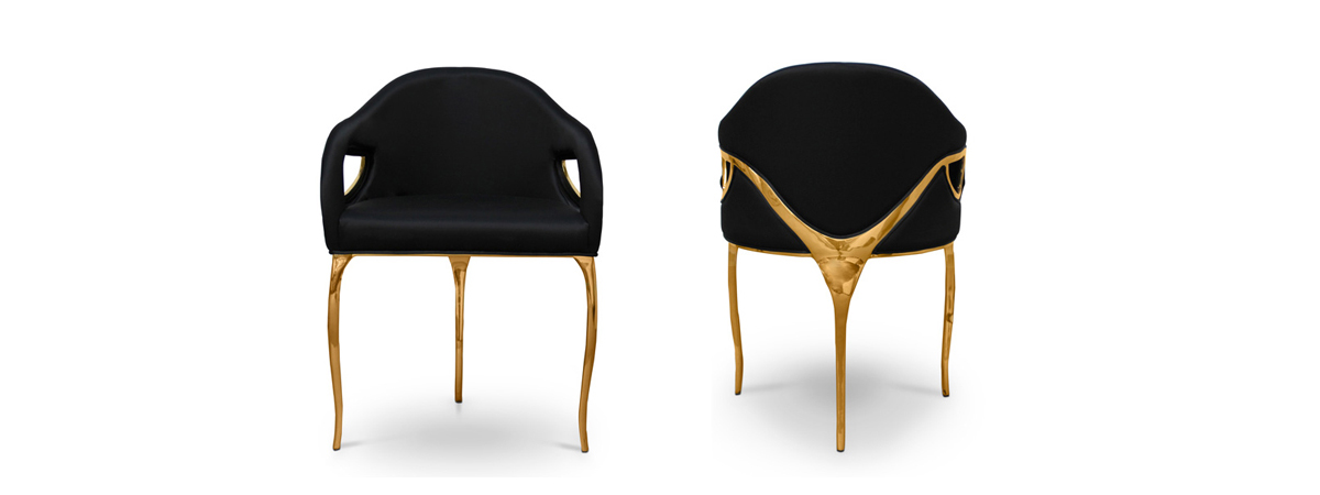 luxury upholstered dining chairs
