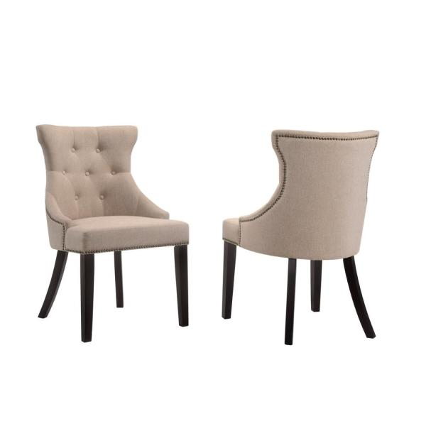 linen covered dining chairs