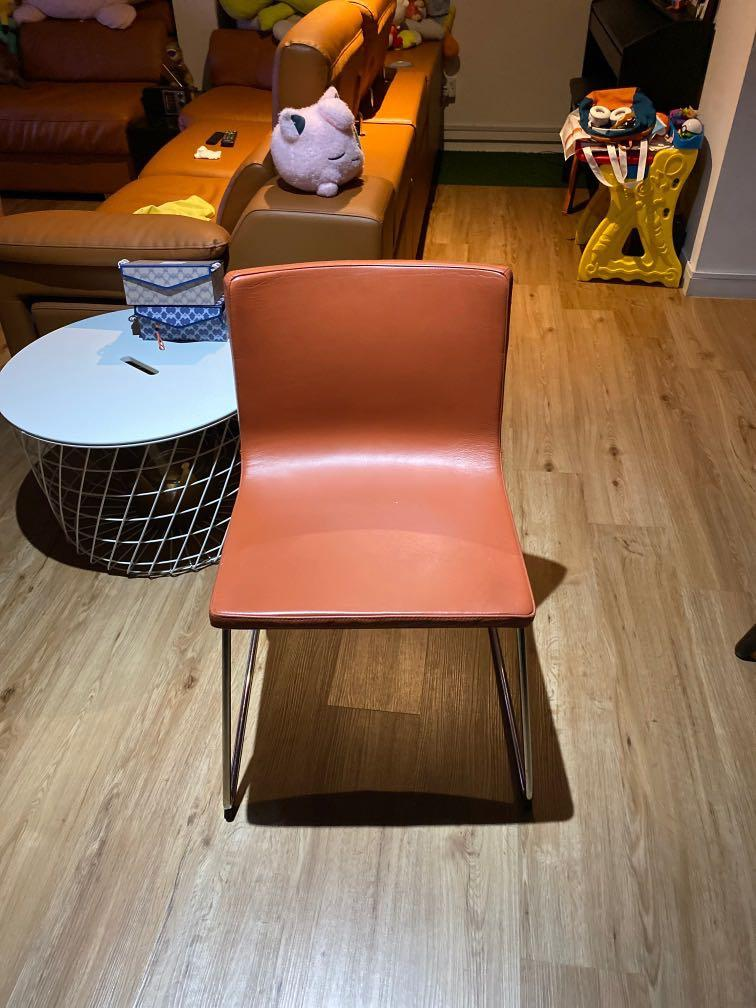 ikea leather dining chair