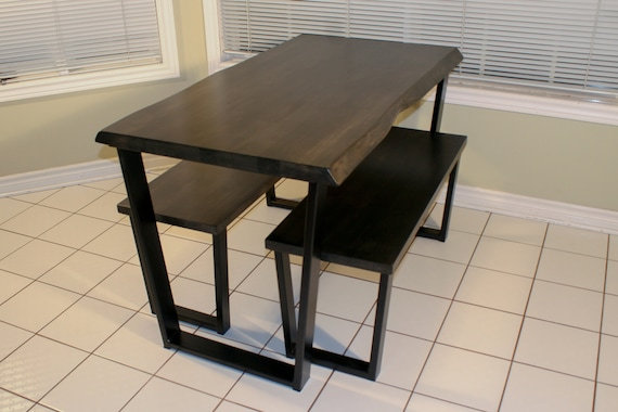 solid oak dining table with bench