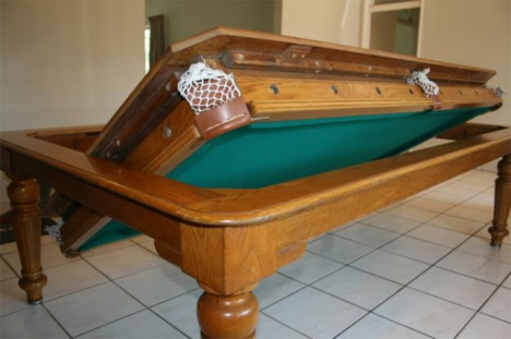 convert dining table to pool table