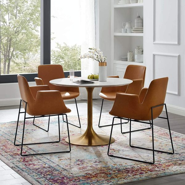 mcm round dining table