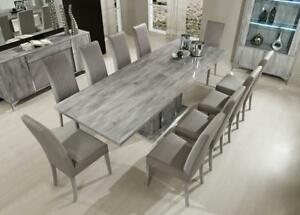 white high gloss extending dining table and 6 chairs