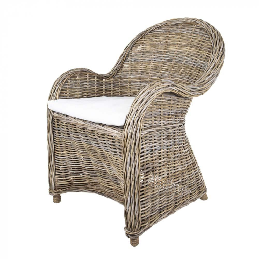 whitewashed wicker dining chairs