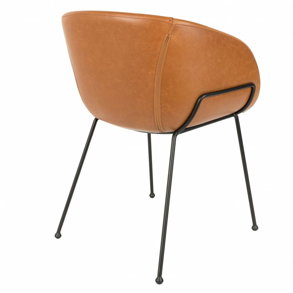 leather look dining chairs