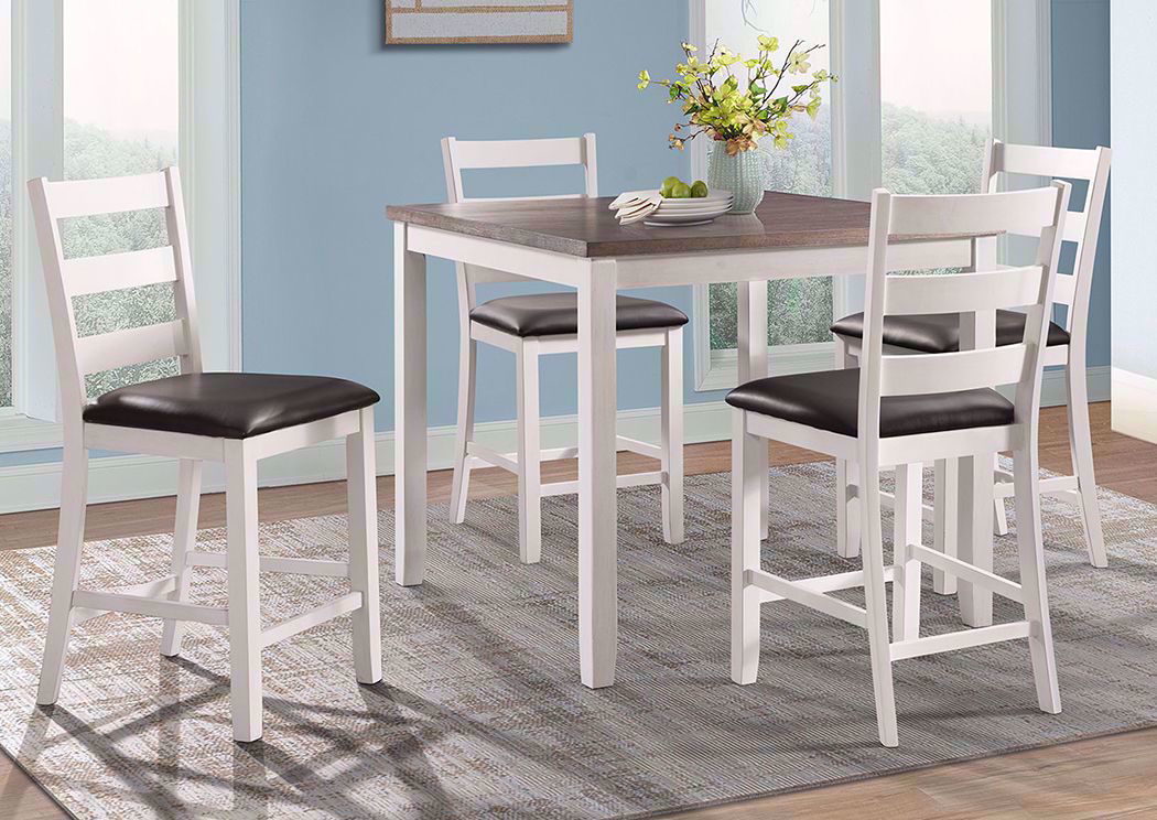 bar height dining table chairs