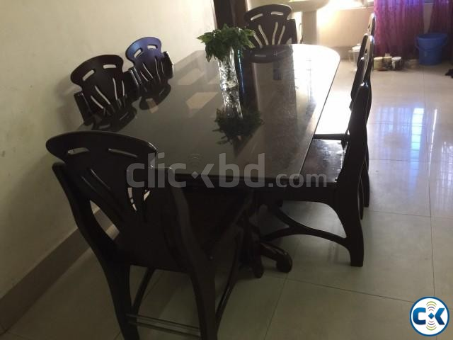 6 seater dining table glass top price