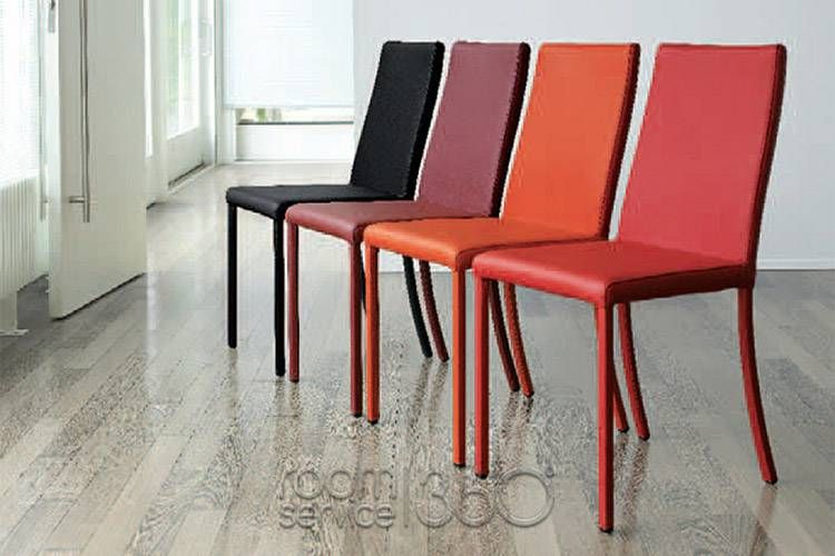 modern red leather dining chairs