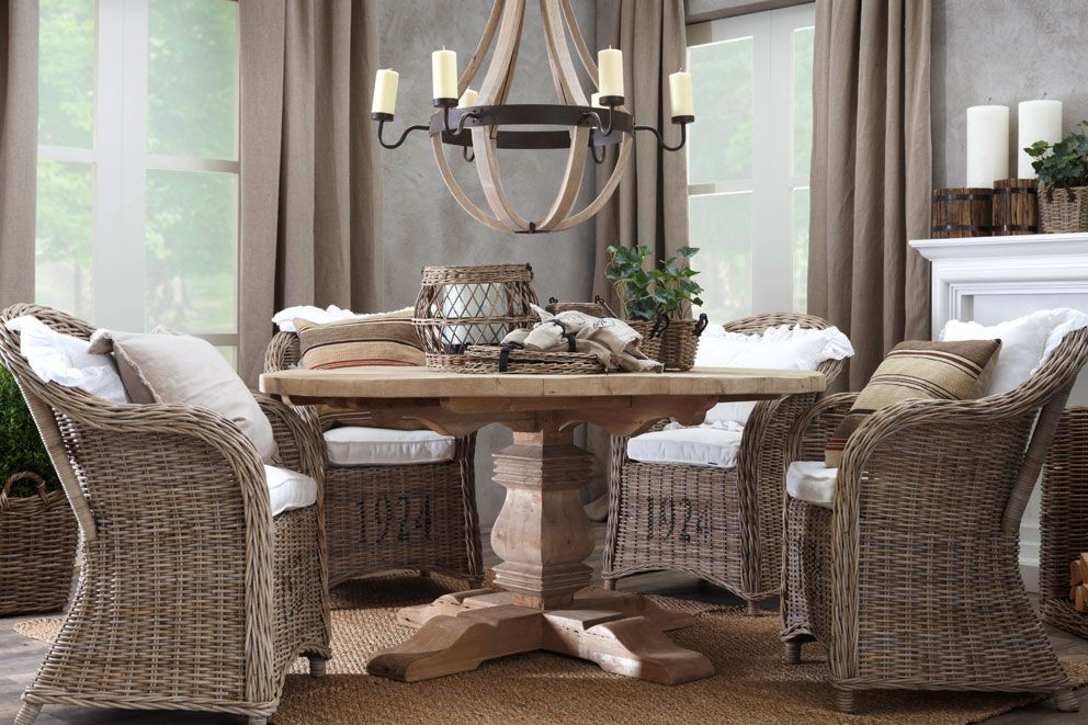 indoor rattan dining chairs