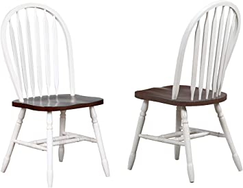 antique white dining chair