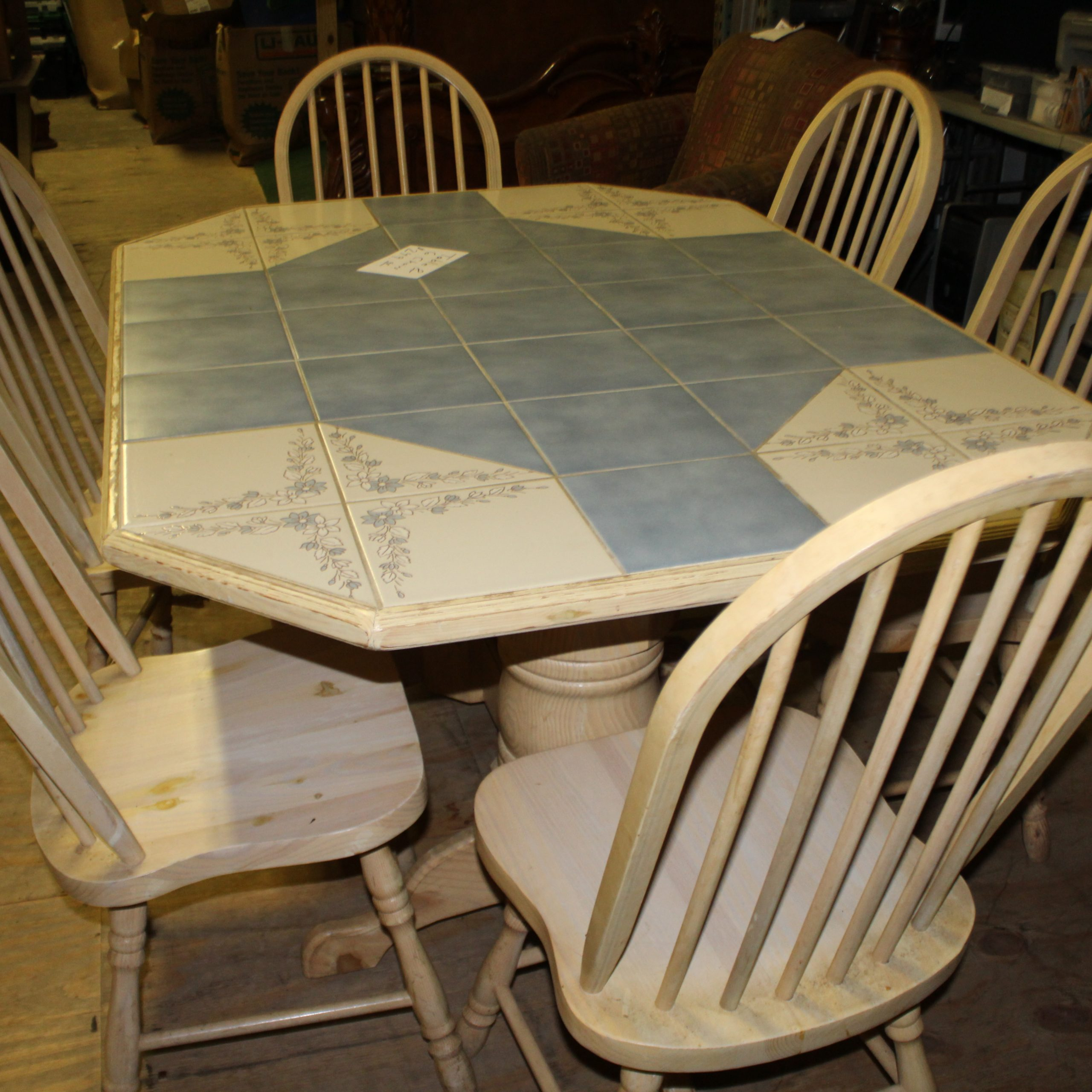 tile top dining room table