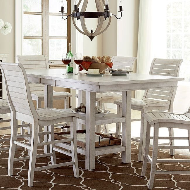 counter high dining table and chairs