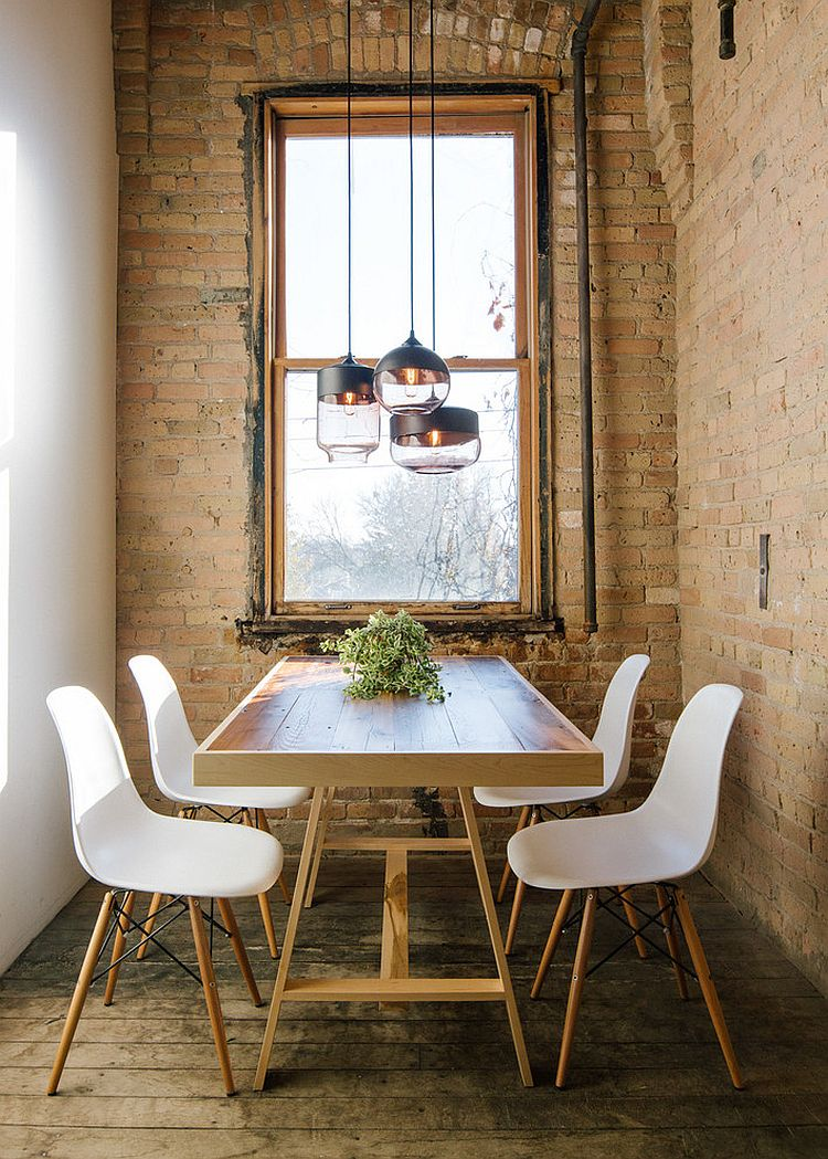 round dining table industrial style