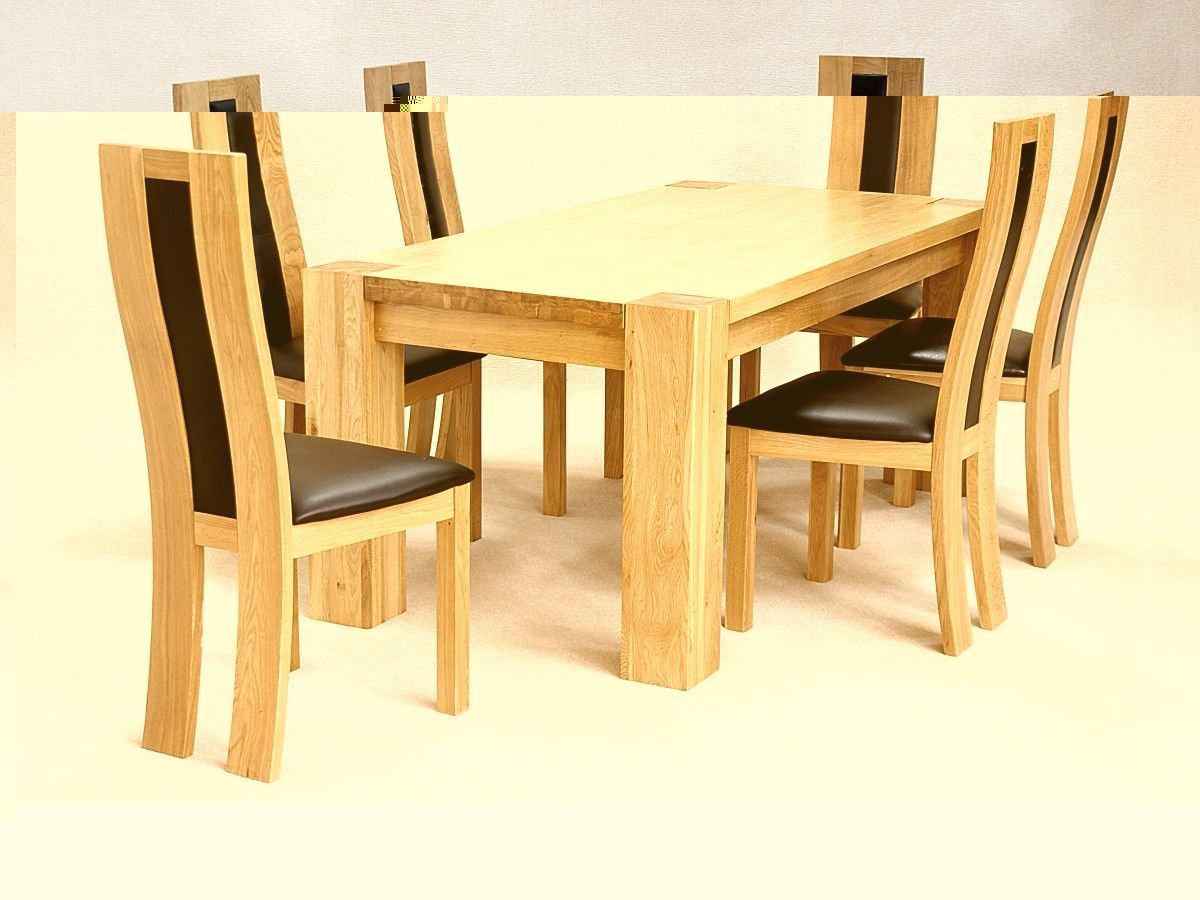 six chair dining table set