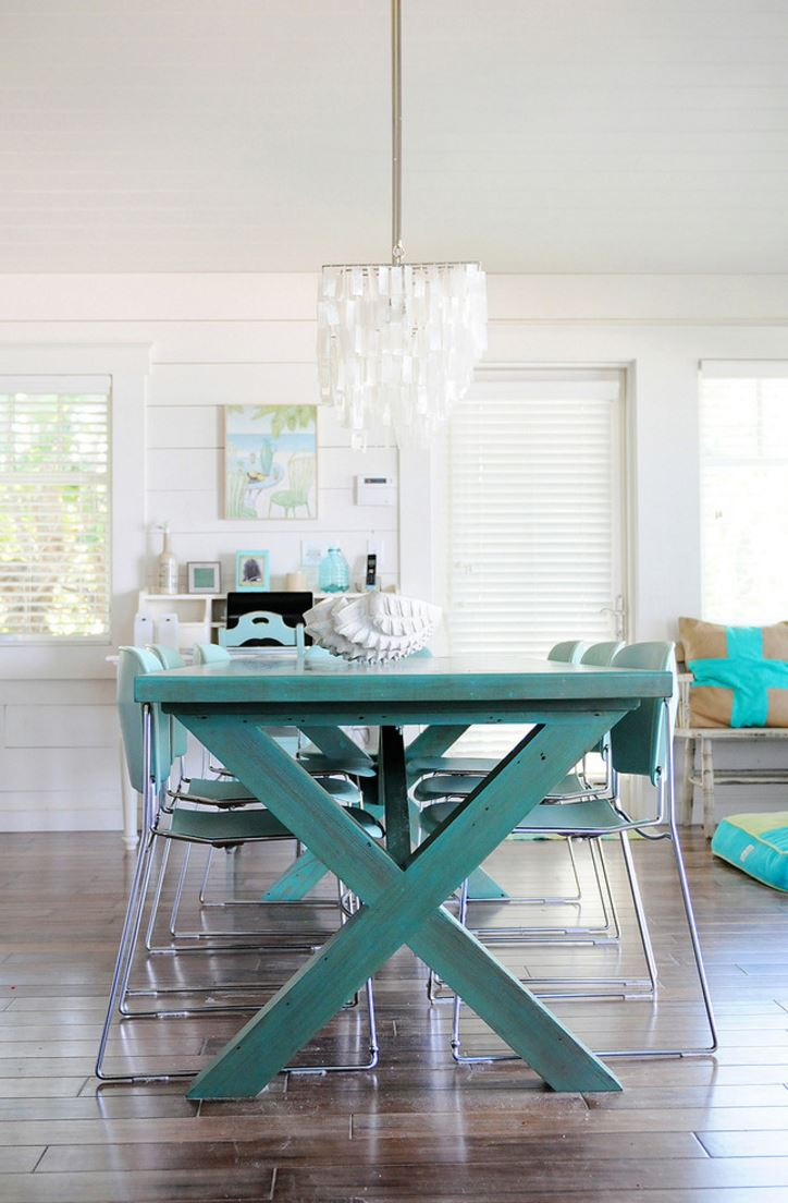 rustic picnic style dining table