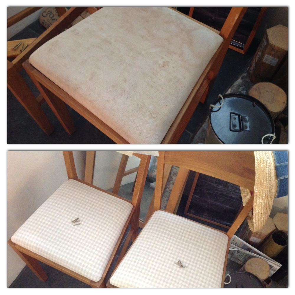 reupholster dining chair seat