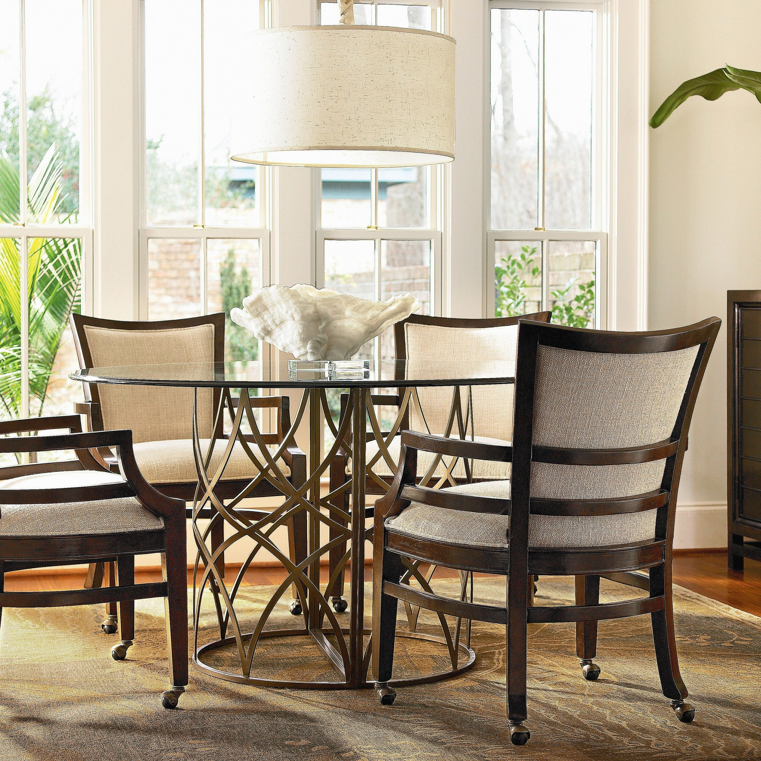 rolling dining chairs with arms