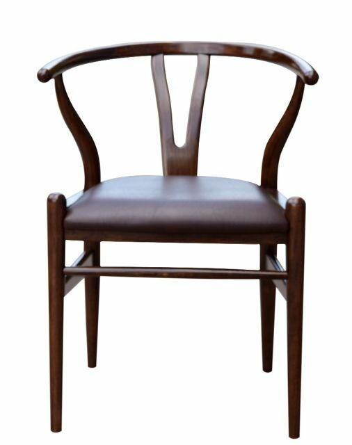 rustic leather dining chair
