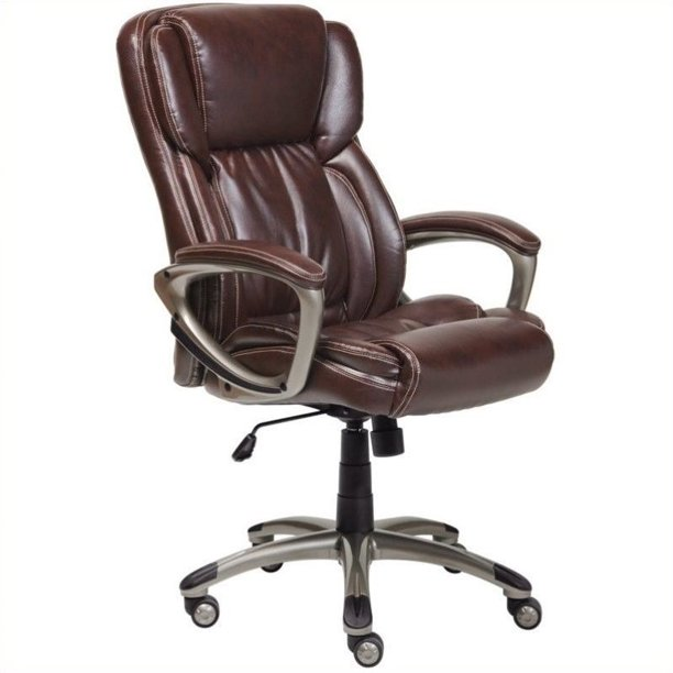 lane brown leather office chair