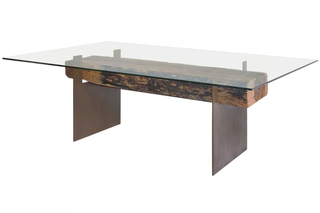 ashley glass dining table