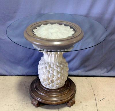 pineapple pedestal dining table
