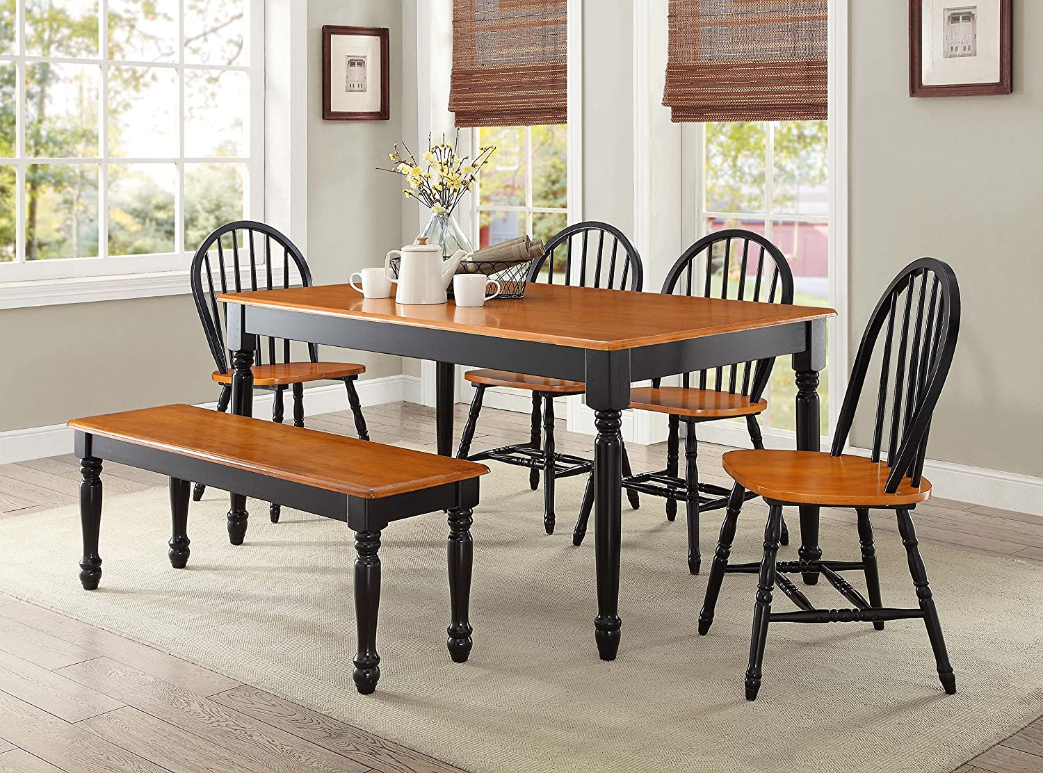 windsor dining table and chairs