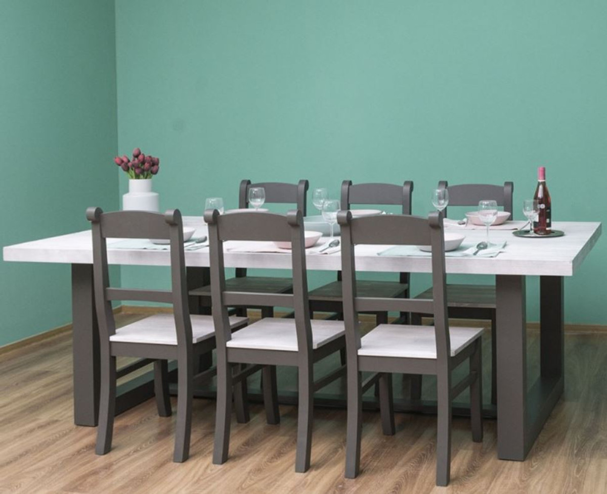 country style dining table with bench