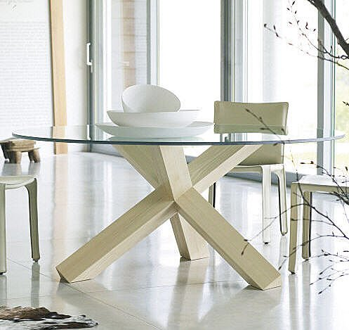 glass top dining table bases
