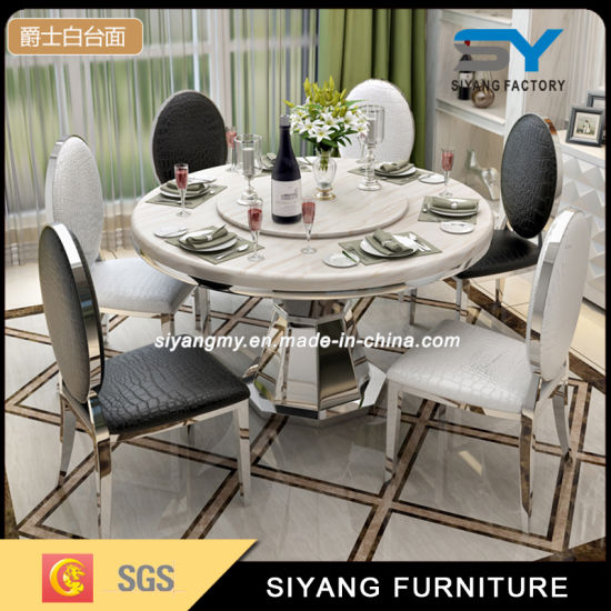 marble top dining table with 8 chairs