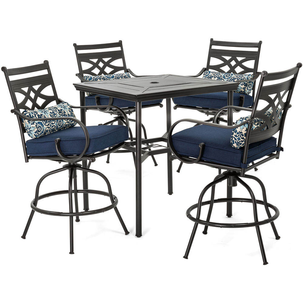 dining table with rolling chairs