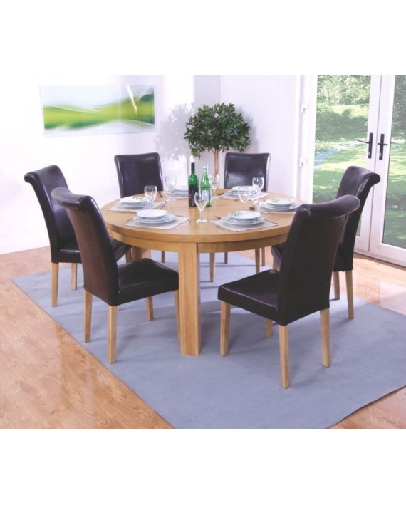 round dining table and chairs for 6