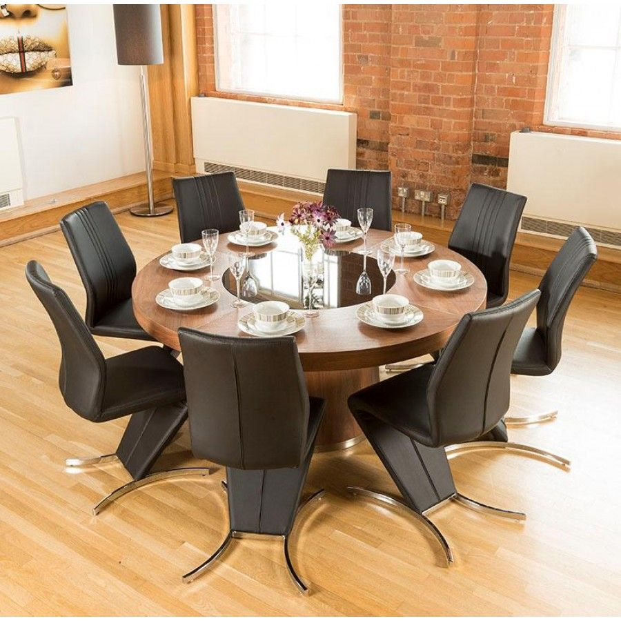 round dining table for 8 with lazy susan