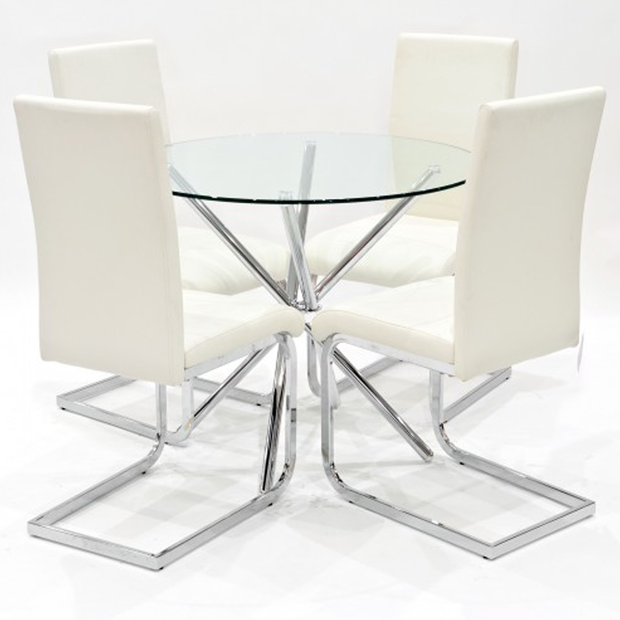 cream dining room table and chairs