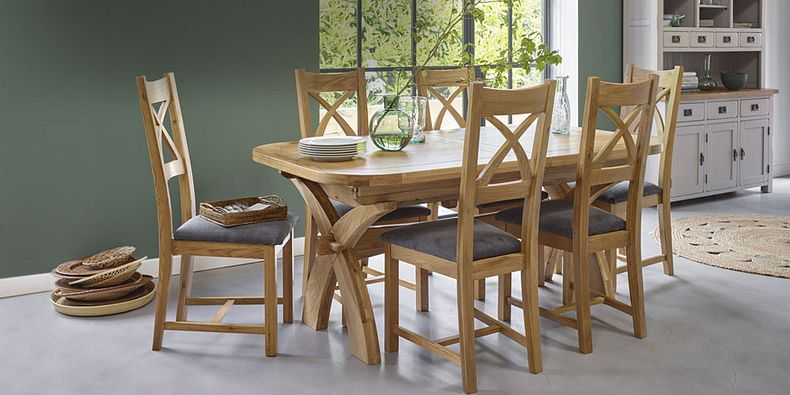 Oak Dining Table And Chairs Dining Sets Oak Furnitureland