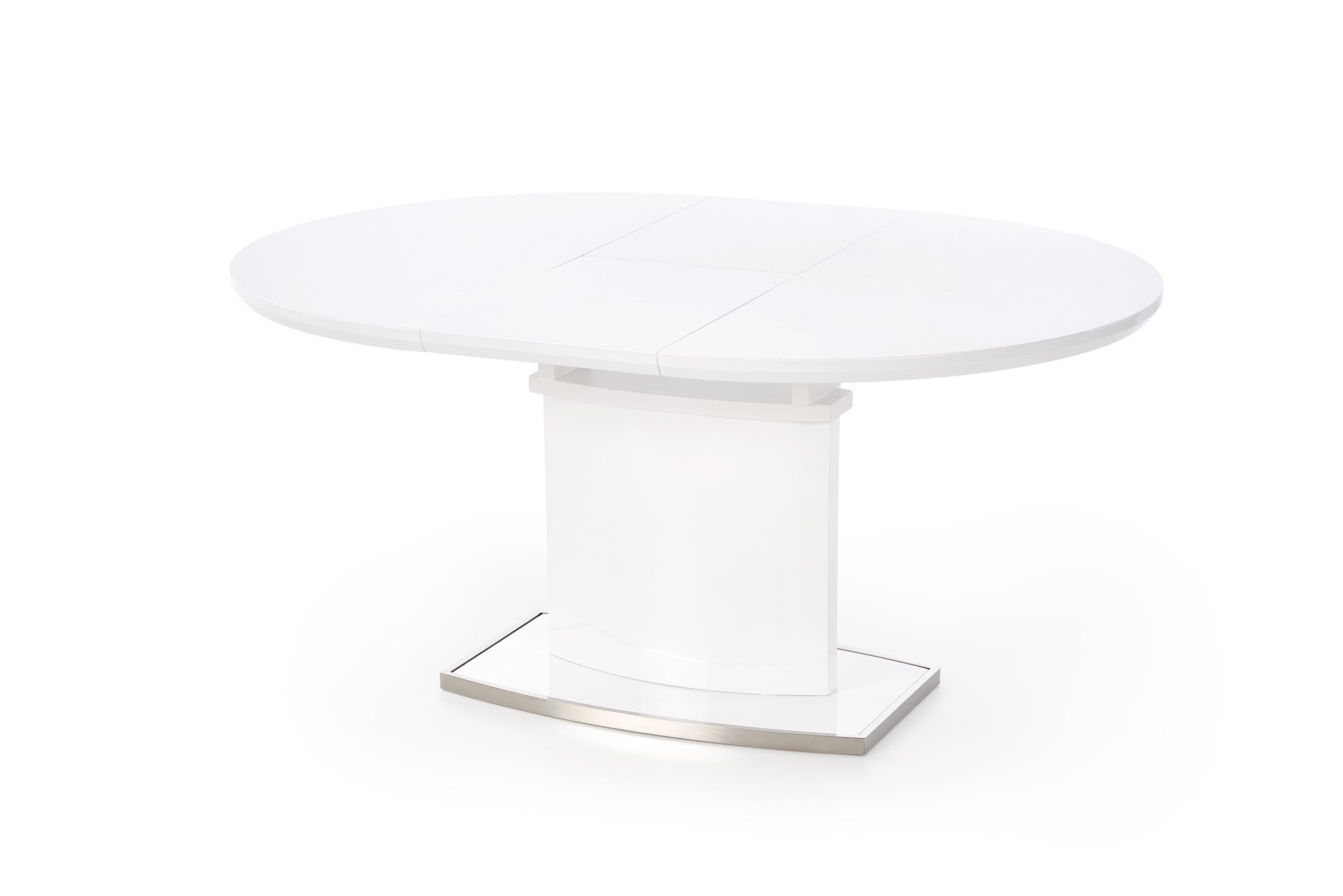 small white extending dining table