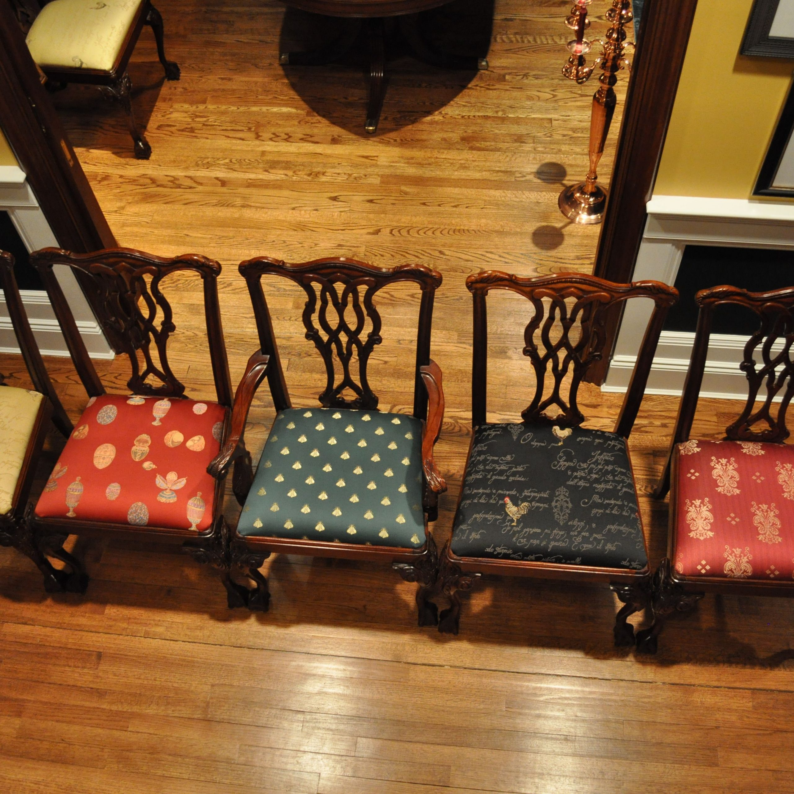 upholstery fabric dining room chairs