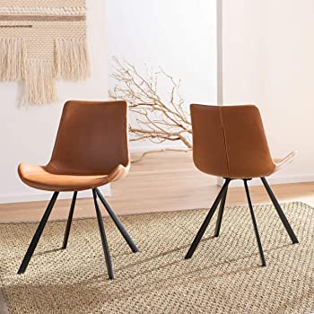 safavieh leather dining chairs