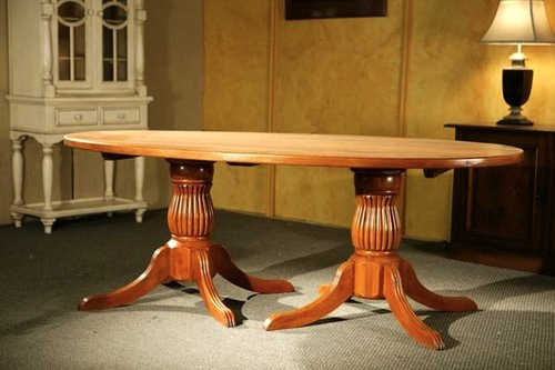 2 pedestal dining table