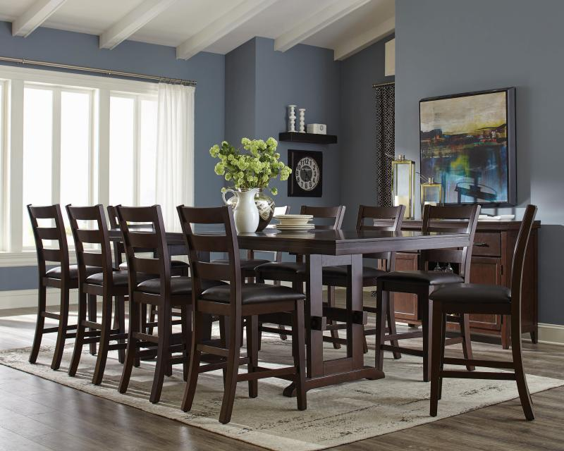 large dining table with bench