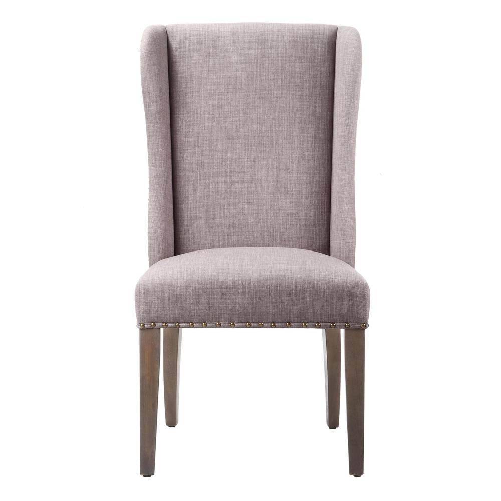 upholstered dining wing chairs