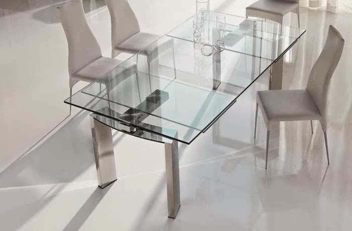 glass extending dining tables